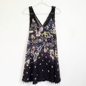 Free People Intimately Floral Mesh Mini Slip Dress